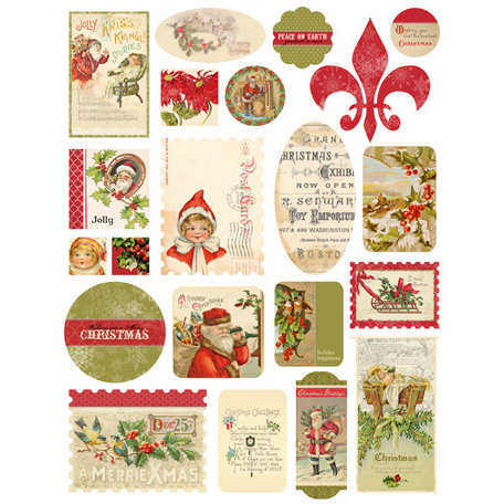 Melissa Frances - Deck the Halls Collection - Christmas - Cardstock Stickers
