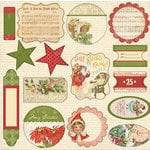 Melissa Frances - Deck the Halls Collection - Christmas - 12 x 12 Cardstock Die Cuts