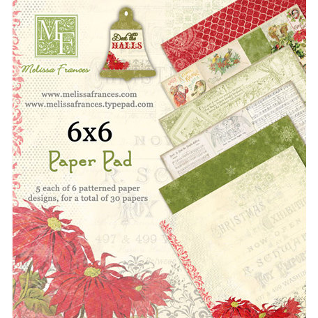 Melissa Frances - Deck the Halls Collection - Christmas - 6 x 6 Paper Pad