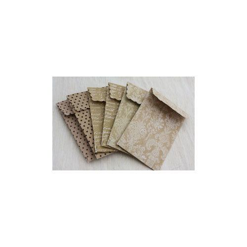 Melissa Frances - Attic Treasures Collection - Printed Banker's Envelopes with Tags