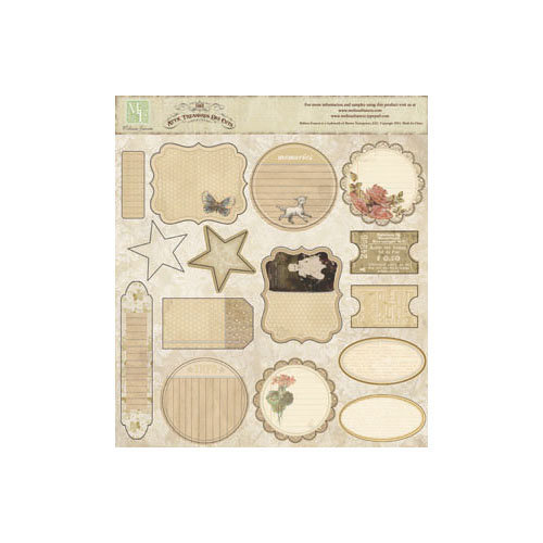 Melissa Frances - Attic Treasures Collection - 12 x 12 Cardstock Die Cuts