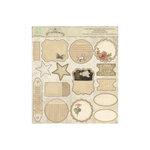 Melissa Frances - Attic Treasures Collection - 12 x 12 Cardstock Die Cuts