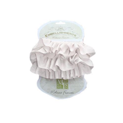 Melissa Frances - Ribbon - 2 Layer Silk - White