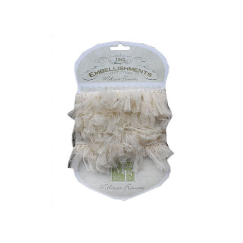 Melissa Frances - Ribbon - Organza Pouf - Cream