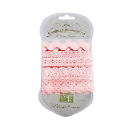 Melissa Frances - Trim - Crochet Lace - Pink