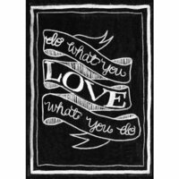 Melissa Frances - Blackboard Canvas Print - Do What You Love