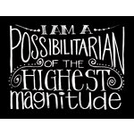 Melissa Frances - Blackboard Canvas Print - I Am a Possibiltarian