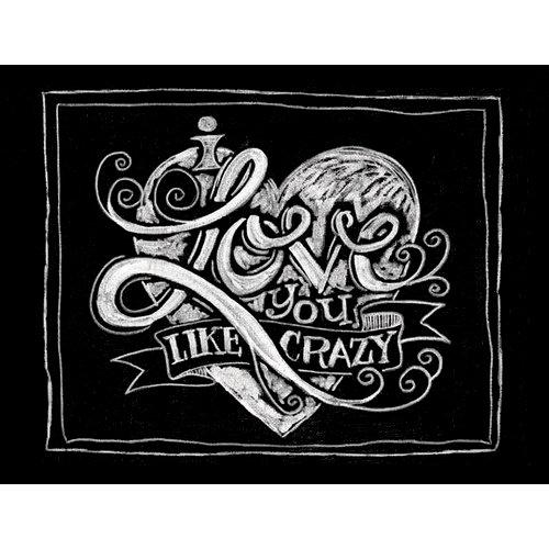 Melissa Frances - Blackboard Canvas Print - I Love You