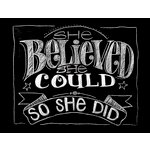 Melissa Frances - Blackboard Canvas Print - She Believed