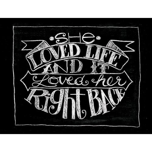 Melissa Frances - Blackboard Canvas Print - She Loved Life