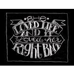 Melissa Frances - Blackboard Canvas Print - She Loved Life