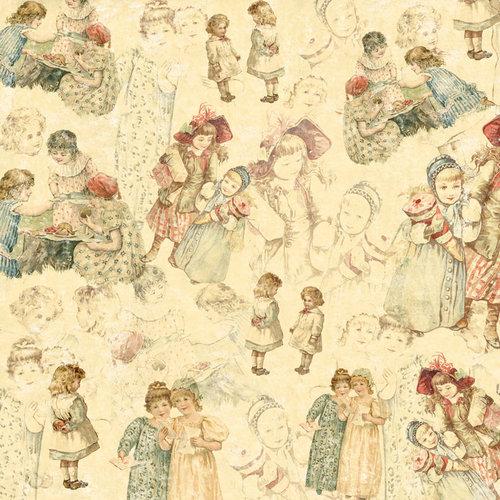 Melissa Frances - Attic Treasures Collection - 12 x 12 Paper - Ruth