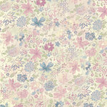 Melissa Frances - Vintage Posey Collection - 12 x 12 Paper - Florence