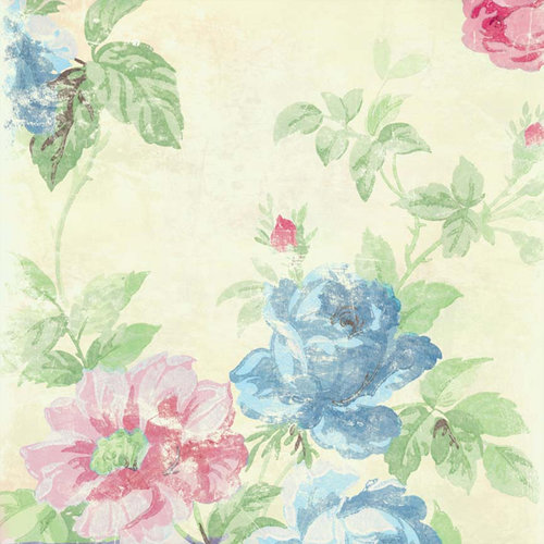 Melissa Frances - Vintage Posey Collection - 12 x 12 Paper - Vivian