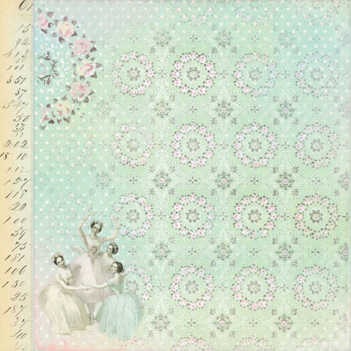 Melissa Frances - 5th Avenue Collection - 12 x 12 Paper - Lula