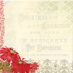 Melissa Frances - Deck the Halls Collection - Christmas - 12 x 12 Paper - Christmas Exhibition
