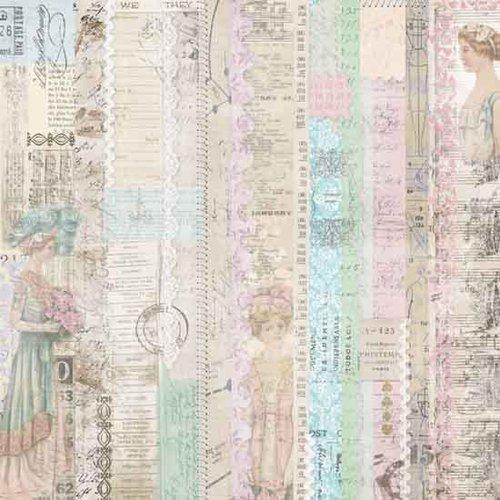Melissa Frances - C'est la Vie Collection - 12 x 12 Paper - Pink Lady