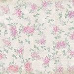 Melissa Frances - C'est la Vie Collection - 12 x 12 Paper - Hydrangeas and Newsprint
