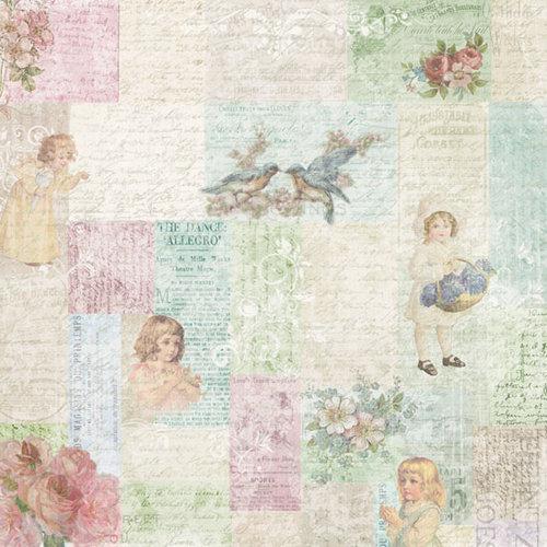 Melissa Frances - C'est la Vie Collection - 12 x 12 Paper - Little Girls Collage
