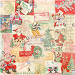 Melissa Frances - Countdown to Christmas Collection - 12 x 12 Paper - All Wrapped Up