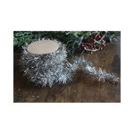 Melissa Frances - Old Fashioned Rope Tinsel - Silver - 12 Feet