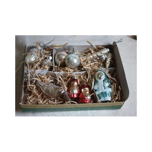 Melissa Frances - Box of Christmas Ornaments - Vintage