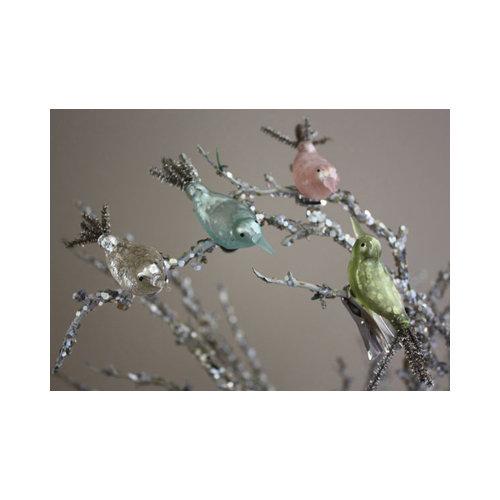 Melissa Frances - Box of Christmas Ornaments - Vintage Birds