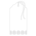 Hampton Art - Tags - Doily - White