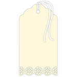Hampton Art - Tags - Doily - Ivory