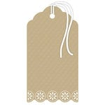 Hampton Art - Tags - Doily - Kraft