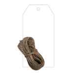Hampton Art - Tags with Twine - White