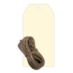 Hampton Art - Tags with Twine - Ivory