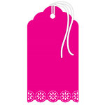 Hampton Art - Tags - Doily - Magenta