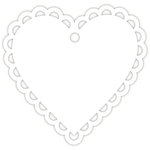Hampton Art - Tags - Heart - Lace - White