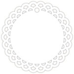 Hampton Art - Tags - Round - Lace - White