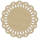 Hampton Art - Tags - Round - Lace - Kraft