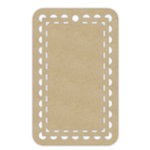 Hampton Art - Tags - Rectangle - Lace - Kraft