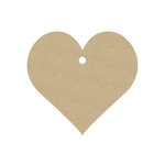 Hampton Art - Tags - Chipboard - Heart
