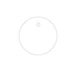 Hampton Art - Tags - Round - White