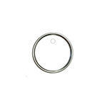 Hampton Art - Tags - Round - Metal Rim - White