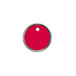 Hampton Art - Tags - Round - Metal Rim - Red