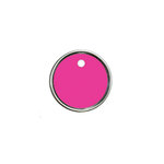 Hampton Art - Tags - Round - Metal Rim - Magenta
