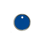 Hampton Art - Tags - Round - Metal Rim - Blue