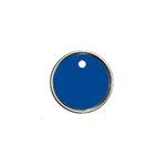 Hampton Art - Tags - Round - Metal Rim - Blue