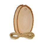 Hampton Art - Tags - Wood Bark - Oval