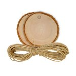 Hampton Art - Tags - Wood Bark - Round