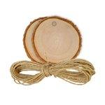 Hampton Art - Tags - Wood Bark - Round