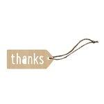 Hampton Art - Tags - Wood Veneer - Thanks