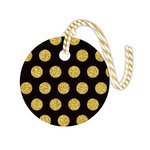 Hampton Art - Tags with Twine - Round - Glitter - Dot