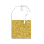 Hampton Art - Tags - Pocket with Glitter Accents - White